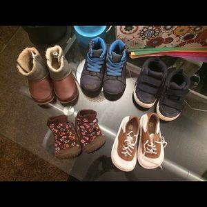 Size 6 toddler boy shoe lot